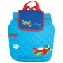 Quilted Backpack Airplane
