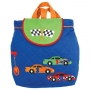 Quilted Backpack Race Car
