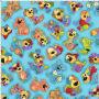 LD Joyful Toss Turquoise Fabric