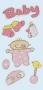 Houtsticker Baby Girl II