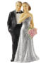 3D Beeldje Zilveren Bruidspaar