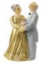 3D Beeldje Gouden Bruidspaar