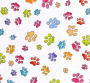 LD Dog Gone Pawful Paws White Fabric
