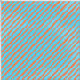 LD Bias Strip Turquoise/Orange Fabric
