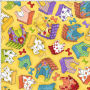 LD Happy Houses Yellow Fabric