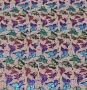 Kurk motief Natural with Rainbow Butterflies