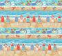 Surf's Up Blue Beach Scene