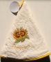 Ronde handdoek zonnebloem provence