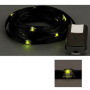 LED Ribbon Lights 3 mm Black-Lime 150 cm