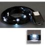LED Ribbon Lights 3 mm Black-White 150 cm
